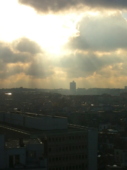 The sky over Brussels was seriously weird that day.