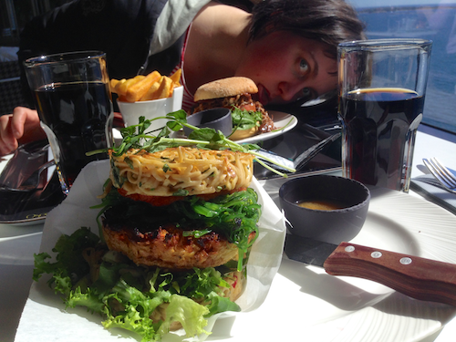 The ramen burger was worth going full hipster.