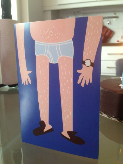 Now this is a splendid 40th birthday card. Very realistic.